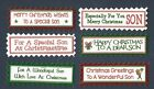6 SON CHRISTMAS Greeting Card Craft Scrapbook Sentiment Message Banners Tags