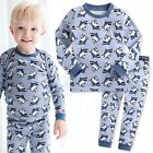 "Vaenait Baby Infant Toddler Kids Boys Clothes Pajama Set ""King Shark"" 12M-7T"