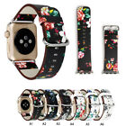 Genuine Leather Band iWatch Strap Rural Flower For Apple Watch Series 38mm  42mm