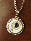 STERLING SILVER PENDANT W/ HAND PAINTED NFL WASHINGTON REDSKINS SETTING -JEWELRY on eBay