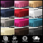 Plain PolyCotton Extra Deep Fitted Frilled Valance Sheets In All Sizes Colours image