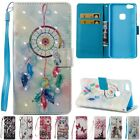 Flip Leather Wallet Card W/Strap Stand Holder Case Cover For Huawei P8 P10 Lite