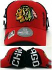 Chicago Blackhawks New Reebok Draft Dri Red Black Era Flex Fitted Fit Hat Cap