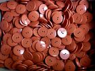 25mm 40L Burnt Orange Terracotta Brown 2 Hole Jacket Craft Sewing Buttons (W333)