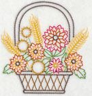 Embroidered 18x28 Flour Sack Kitchen Towel AUTUMN FALL BASKETS 4 Choices!