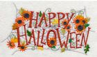 FRIGHTFULLY FLORAL HALLOWEEN Made To Order Embroidered Kitchen Towel Choices