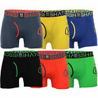 Mens Boxer Crosshatch Underwear 2 Pack Trunks Printed Stretch Shorts A-Front New