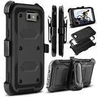 Shockproof Rugged Hybrid Kickstand Hard Armor Holster Clip TPU Phone Case Cover