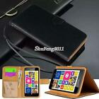 Black Flip Cover Stand Wallet Leather Case For Various Nokia Lumia SmartPhones