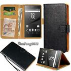 Black Flip Cover Stand Wallet Leather Case For Sony Xperia Z Series Smartphones