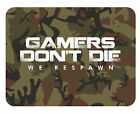 Gamers Don't Die Camo Mouse Mat - Gaming PC Laptop Mouse Pad Christmas Gift