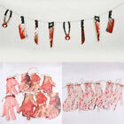 Happy Halloween Party Blooded Severed Hands Feet Knife Hanging Banner Decor