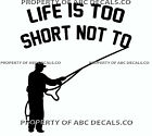 VRS LIFE 2 SHORT FISHING Fly Cast Rod Reel weighted Line Fish CAR VINYL DECAL