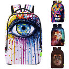 WATERCOLOR DIGITAL PRINTING BACKPACK OUTDOOR TRAVEL CAMPING SCHOOL BAG FITTED