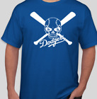 LOS ANGELES DODGERS LA SKULL RAIDERS LOGO BRAND NEW BASEBALL GRAPHIC T SHIRT on Ebay