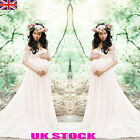 UK Pregnant Women Lace Maxi Dresses Maternity Gown Photography Props Photo Shoot