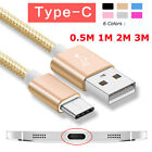 0.5-3M Type C USB Data Snyc Charger Charging Cable For Samsu
