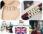 UK Cosplay Batman Suicide Squad Harley Quinn Puddin Leather CollarNecklace JJ77 £2.99 GBP on eBay