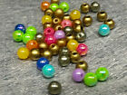 4mm 500/1000/2000/5000/10000pcs ASSORTED IRIDESCENT ACRYLIC ROUND BEAD CC3201