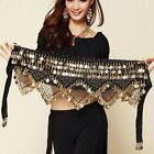 Belly Dance Costume Hip Scarf Tribal Triangle hip Belt skirt Silver Gold coins
