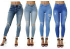 Ex River Island WOMENs Mid Waisted Skinny Jeans Ripped Amelie Molly Collection