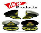 UK ROYAL NAVY ADMIRAL OFFICER WHITE OR BLACK HAT CAP NEW. ALL SIZES - CP MADE