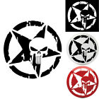 Cool Punisher Star Skull Pentagram Car Sticker Vinyl Decal Truck Window 13x13cm