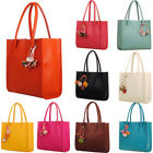 Fashion Women Girls Handbags Leather Shoulder Bag Candy Color Flowers Totes