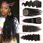 Longqibeauty USPS Indian Curly/Straight Body/Deep/Natural Wave Hair Lace Closure