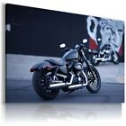 HARLEY DAVIDSON  MOTORCYCLE CANVAS WALL ART PICTURE LARGE SIZE £12.74 GBP on eBay