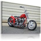 HARLEY DAVIDSON  MOTOR BIKE RED Large Wall Canvas Picture ART  HD25 £24.64 GBP on eBay