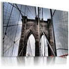 NEW YORK CITY BROOKLYN BRIDGE View Canvas Wall Art Picture Large L84 X  MATAGA