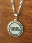 STERLING SILVER ROPE PENDANT W/ NFL CAROLINA PANTHERS c SETTING JEWELRY GIFT on eBay