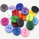 200PCS DIY 12.5mm Buttons Resin Buttons Craft Scrapbook Sewing 2 Holes Round New