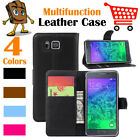 Leather Wallet Stand Folio LSP Case Skin For Samsung Galaxy Alpha SM-G850 S801