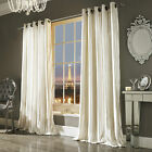 """Iliana Oyster Eyelet Lined Curtains 66""""x90""""  Pair by Kylie Minogue Bedding"""