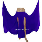 ROYAL BLUE Chiffon 2 Front Slit Full Circle Skirt Belly Dance Gypsy Costumes