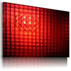 RED GLASS ABSTRACT MODERN CANVAS WALL ART PICTURE LARGE SIZES AZ3 X