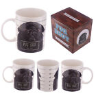 Cute Bone China Brown/Black Pug Mug Shot Mug -Available single or as a set of 2