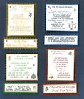 4 HUSBAND WIFE Christmas Card Greeting Verse Toppers W/WO Matching Sentiments