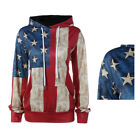 Casual loose personality sweater American flag hooded long-sleeved 1Pcs Hoodies