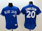Josh Donaldson 20 Toronto Blue Jays Majestic Royal Flex Base Jersey NWT