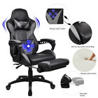 Video Racing Gaming Chair Ergonomic PU Leather Office Swivel Recliner Footrest