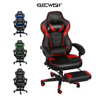 Racing Gaming Office Chair Ergonomic PU Leather Reclining Computer Desk Footrest