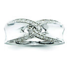 Sterling Silver Sterling Silver Belle Amore Diamond Ring Band Ring QR3360