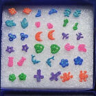 18 Pairs Mix Styles Earrings Studs Pin Heart Cross Star Moon Fashion Jewelry Set
