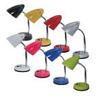 Adjustable Cone Table Lamp: 8 Colours (Childs Kids Bedroom Flexi Desk Light)