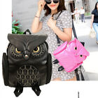 New Fashion Women Backpack Newest Stylish Cool Leather Owl Shoulder Backpack