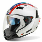 Airoh Motorcycle Helmet Executive R Modular - Stripes White Gloss