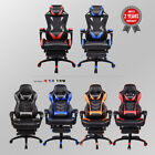 Racing Gaming Chair Office High Back Ergonomic Recliner PU Leather Footrest